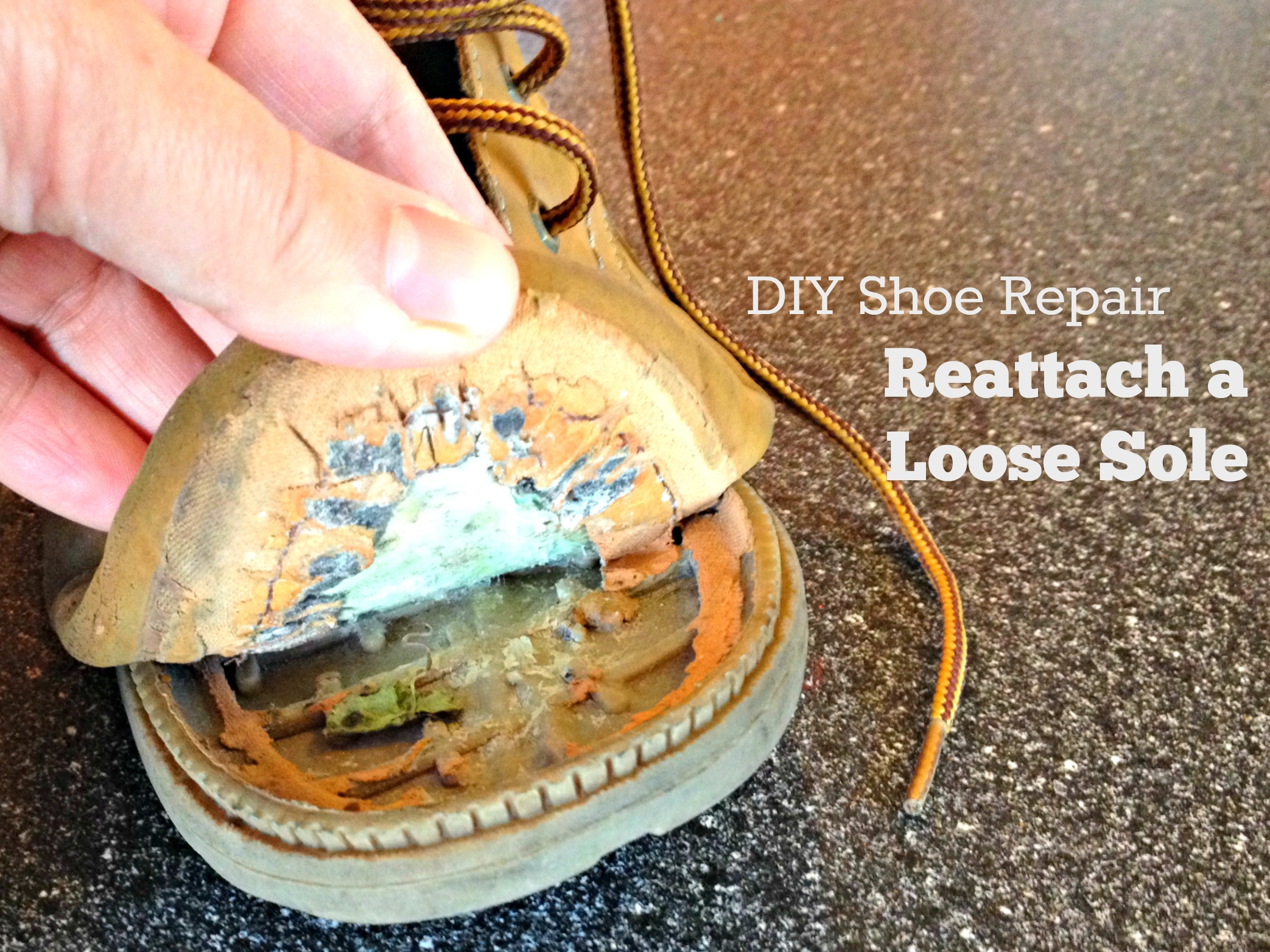Diy Shoe Repair How To Reattach A Loose Sole Frugal Upstate