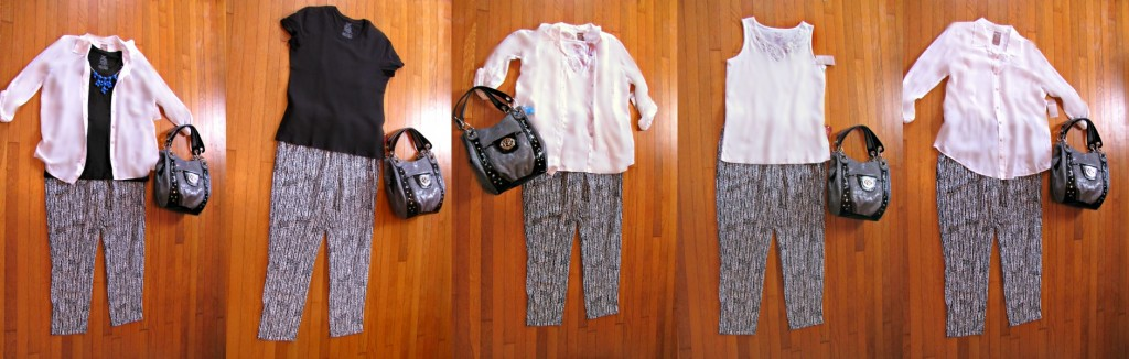 Closet Must Haves Outfits -- 4 pieces 5 ways