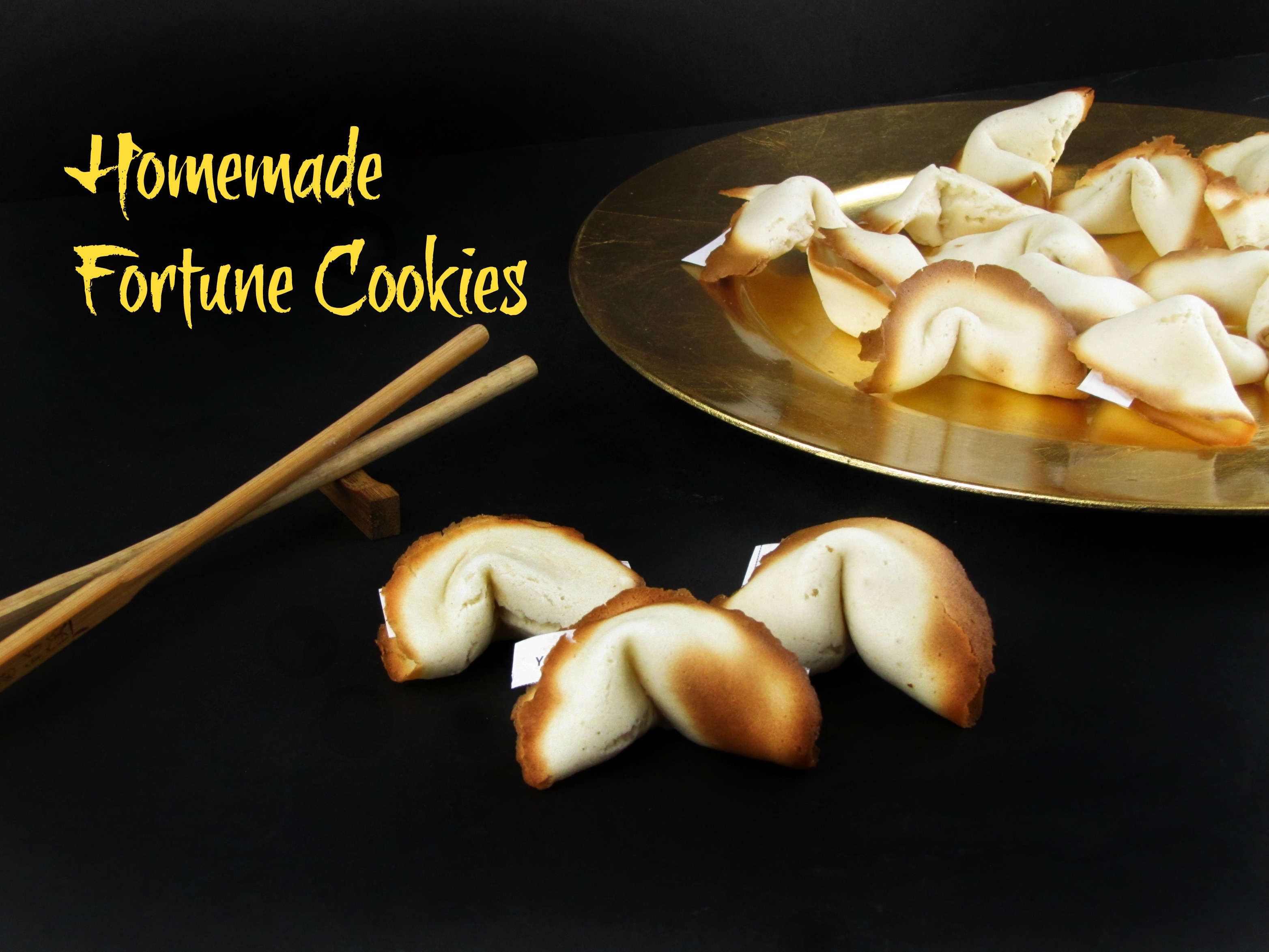 Homemade Fortune Cookies.