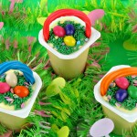 Easter Baskets made from Super Snack Pack Puddings