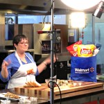 Jenn Filming at the Frito Lay Flavor Kitchen
