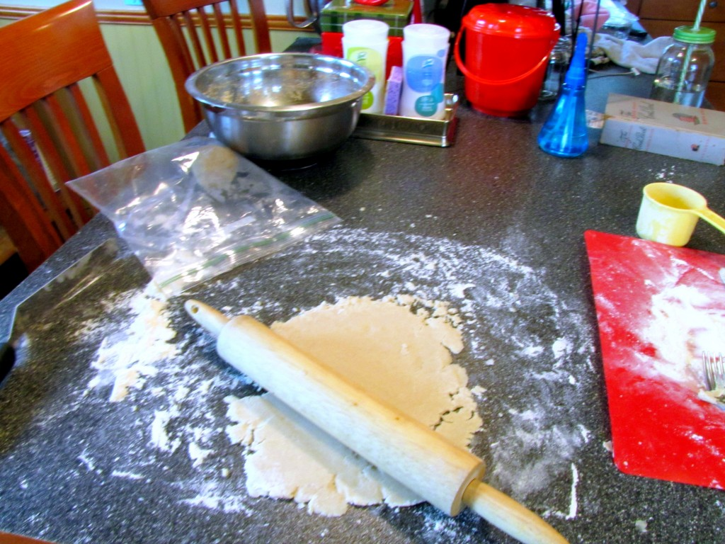 Making Pie Crust on My Counter
