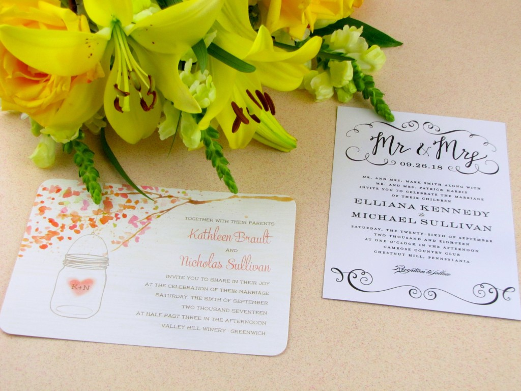 save on wedding invitations  with the walmart stationery store, invitation samples