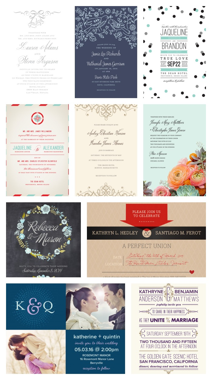 variety of wedding invitations available at walmart