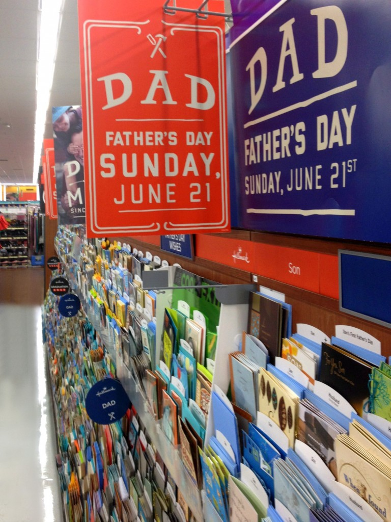 Don't forget your father's day card
