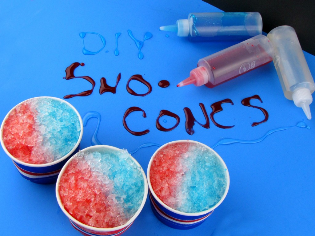 Make your own DIY Snow Cones for the 4th of July