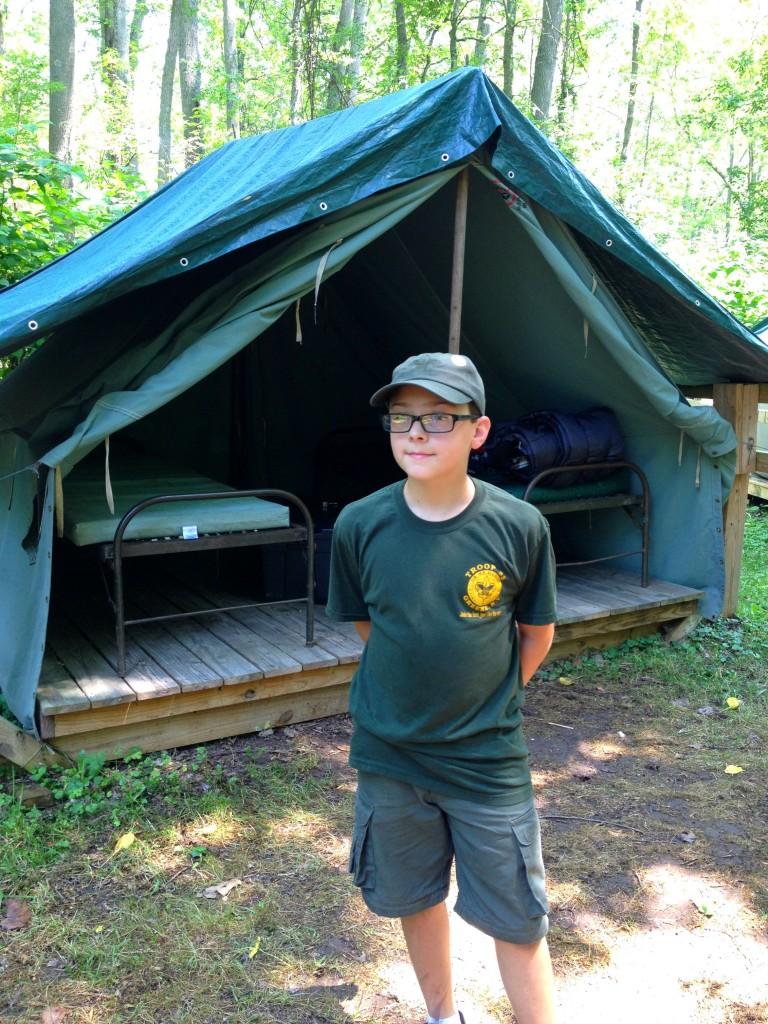 Buddy at Boyscouts