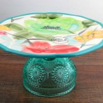 Combine your pieces to make a cake stand