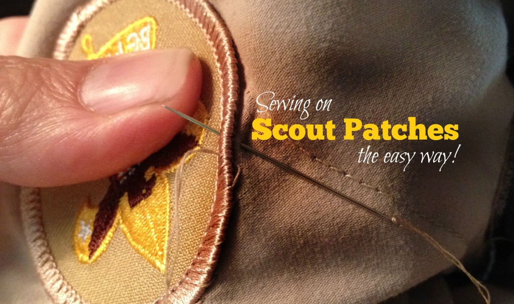 Sewing on Scout patches -- the easy way!