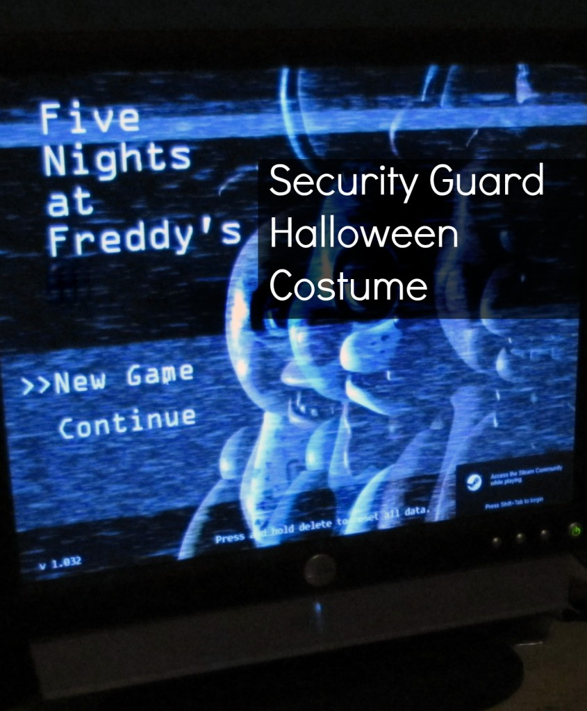 five nights at freddys security guard halloween costume