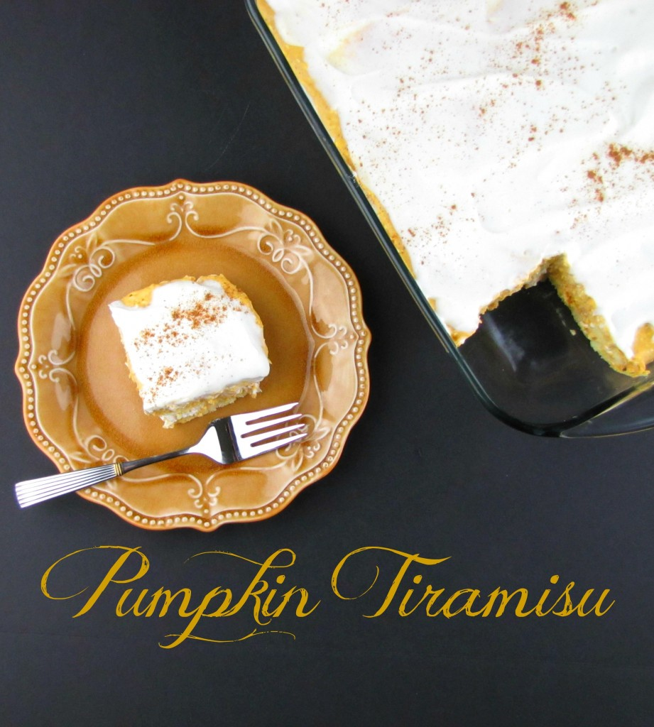 Pumpkin Tiramisu for Thanksgiving