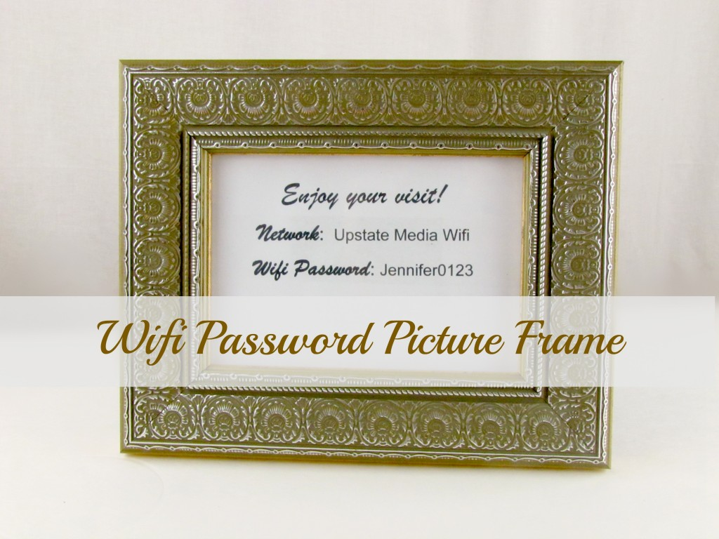 Wifi Password Picture Frame