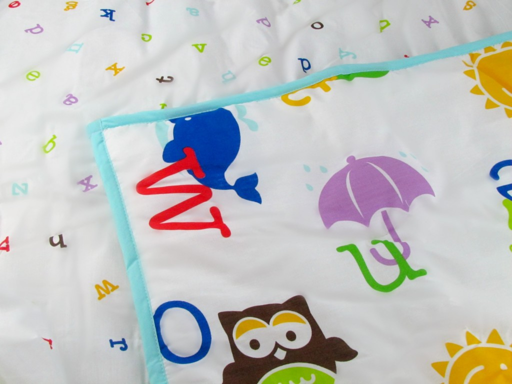 Fabulous Pinwheel Crib Bedding Alphabet Play