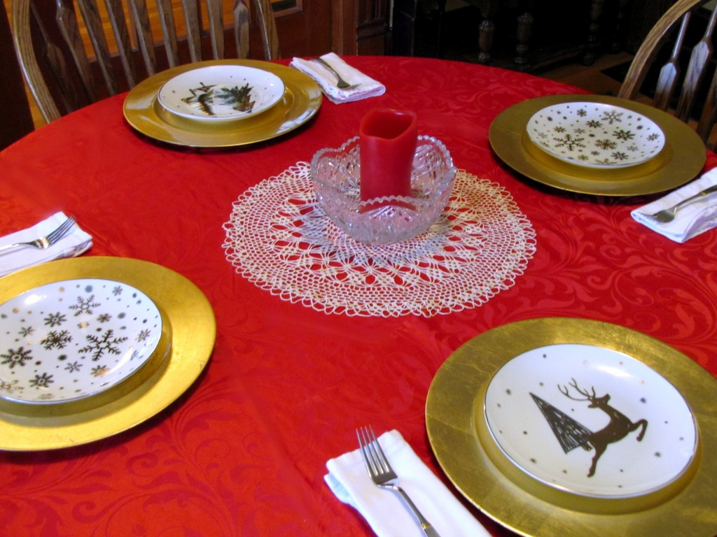 Place Settings from Walmart for the Holidays & Jazzing It Up With Holiday Place Settings - Frugal Upstate