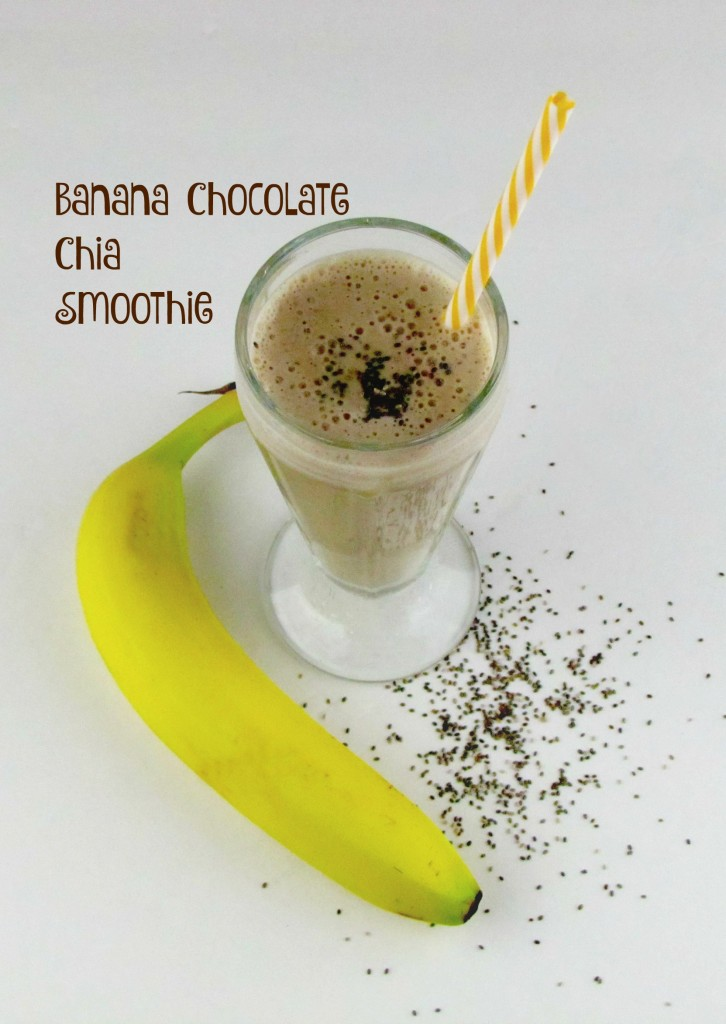 Banana Chocolate Chia Smoothie