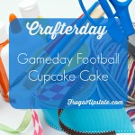 Gameday Football Cupcake Cake — Crafterday!
