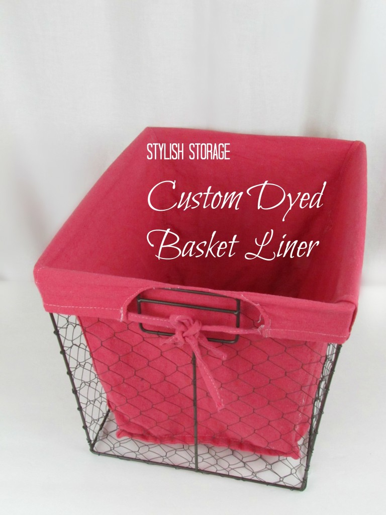 Red Dyed Canvas Basket Liner