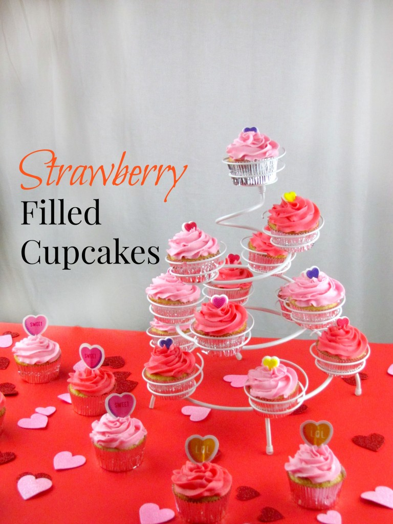 ... but really isn't that hard to do? Try my Strawberry Filled Cupcakes