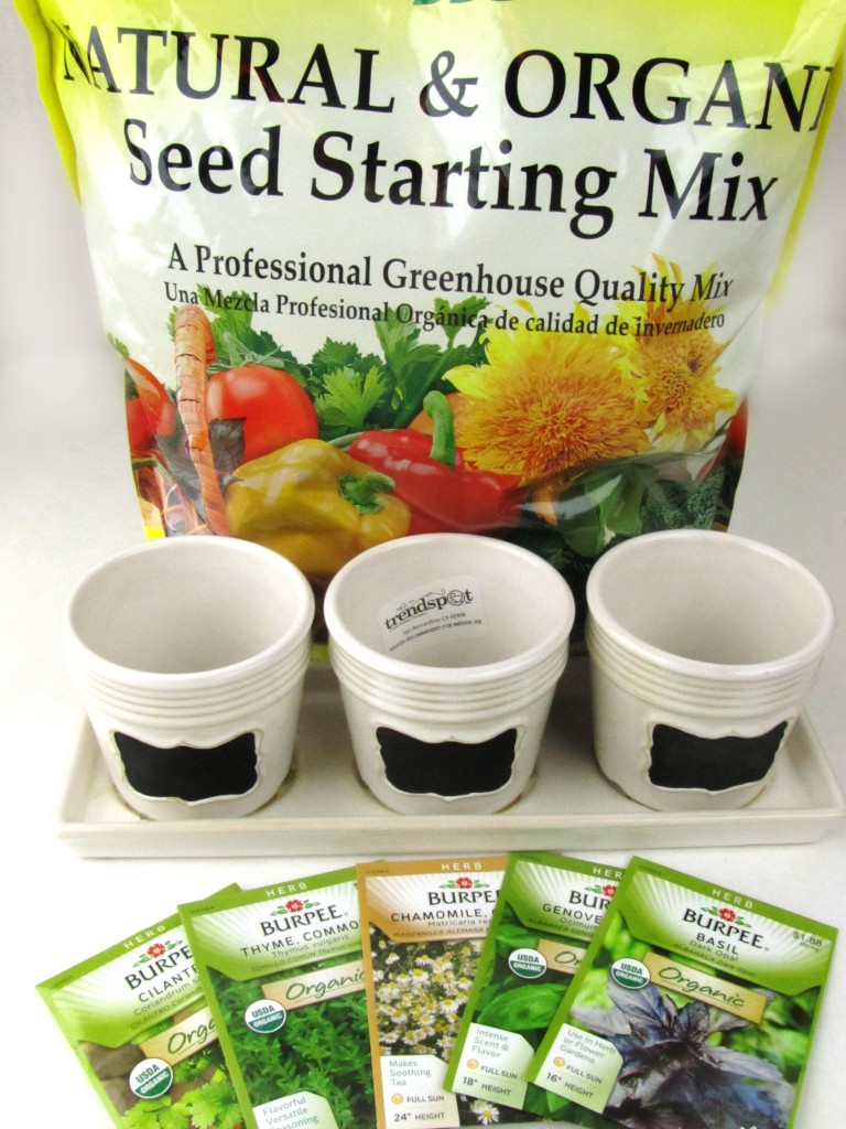 Unwins Kitchen Garden Herb Kit Kitchen Herb Garden Windowsill Planter With Seeds