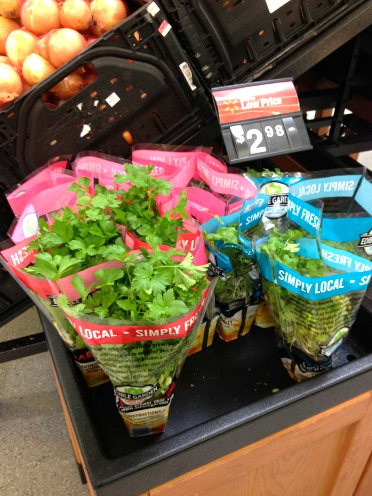 Potted Herbs at Walmart
