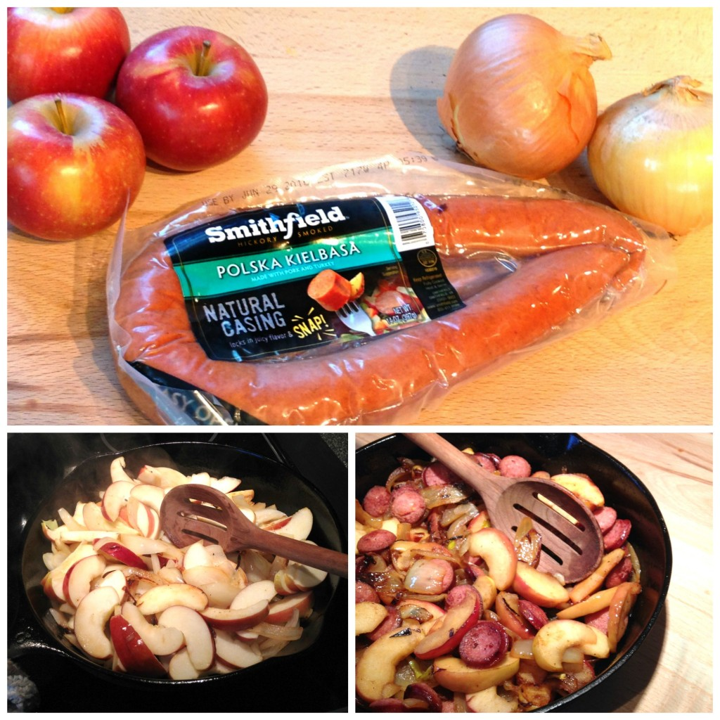 Apples and Onions with Sausage