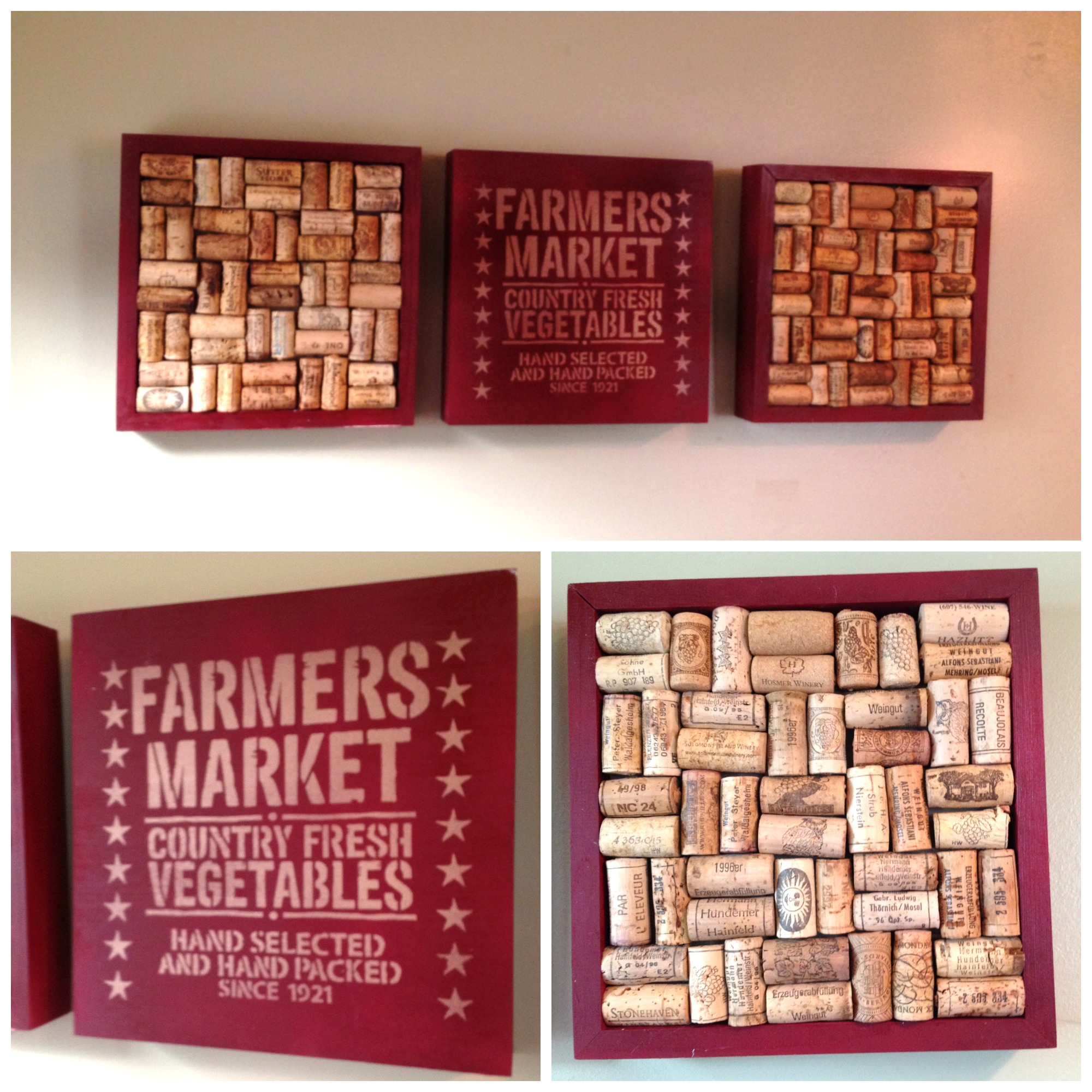 Easy Transformation — Blank Plaques to Country Chic Wine Corkboard Art