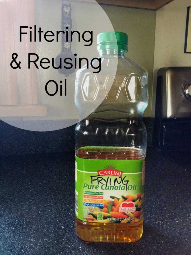 Filtering and Reusing Oil