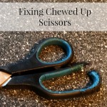 Fixing Chewed Up Scissor Handles ~ Make Do and Mend
