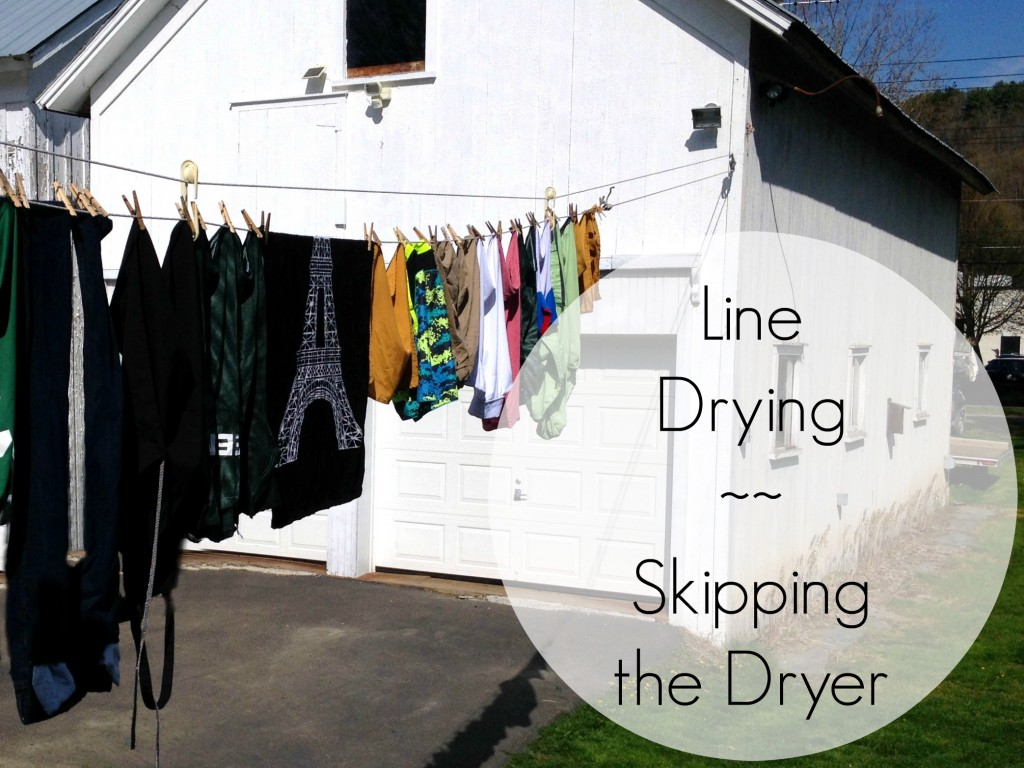 Line Drying ~ Skipping the Dryer