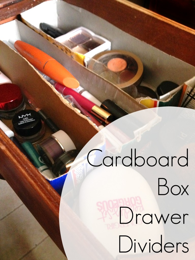 Make it Do with Cardboard Box Drawer Dividers