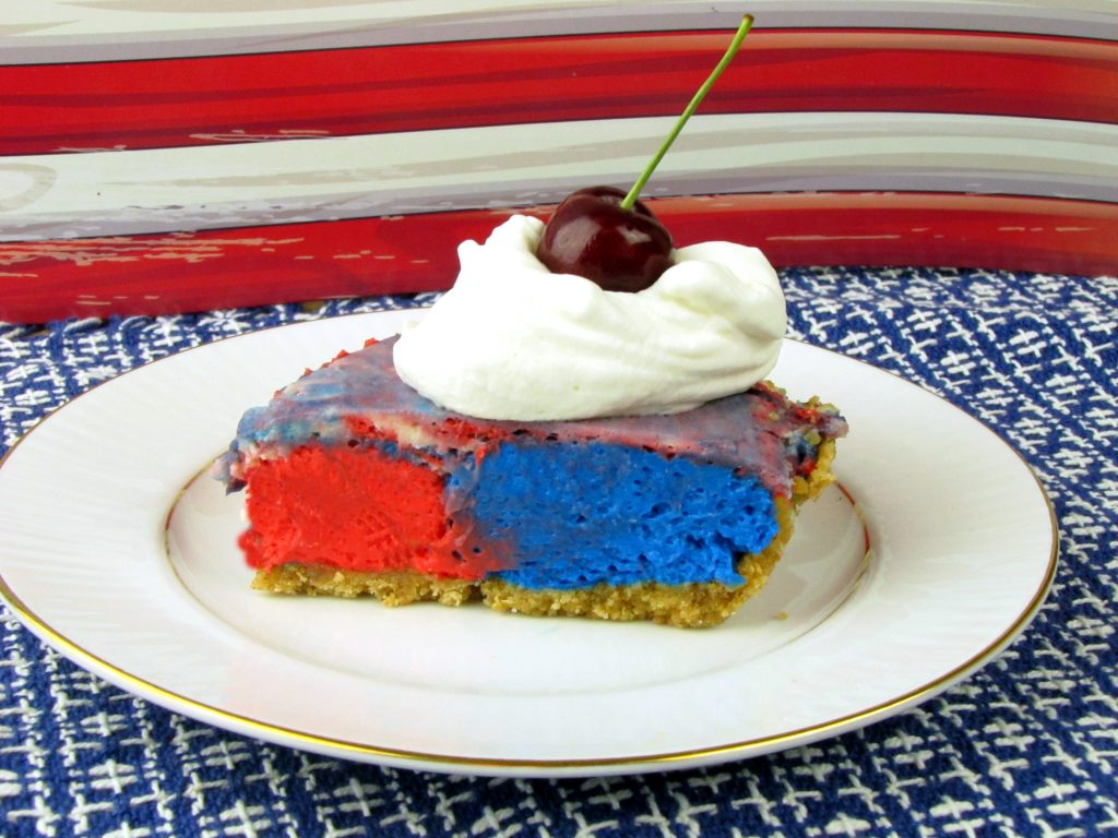 Patriotic no bake cheesecakes