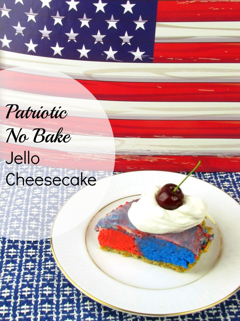 Patriotic no bake jello cheesecake