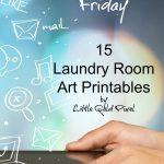 Laundry Room Free Printables — Free Resource Friday