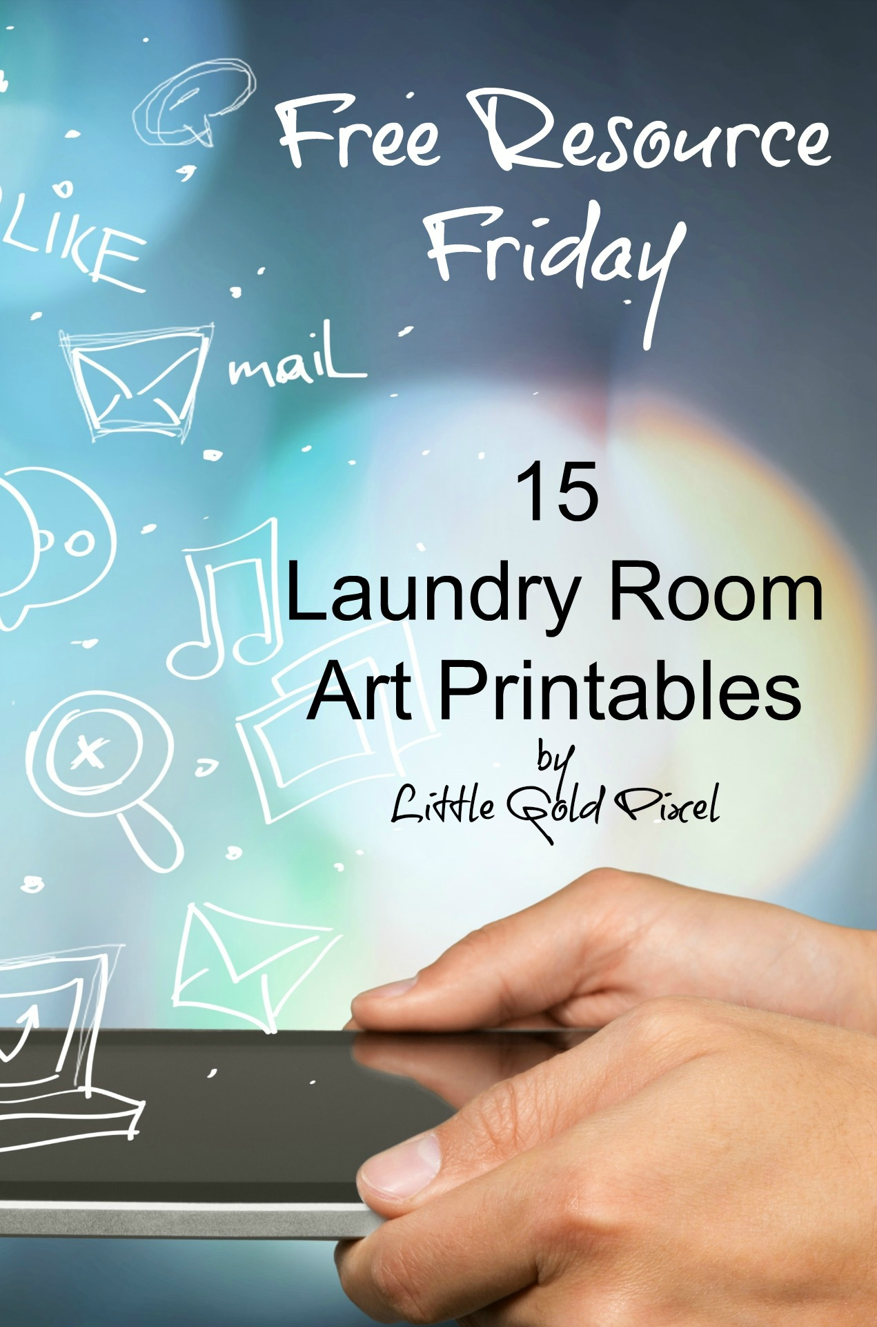 Laundry Room Free Printables - Free Resource Friday - Frugal Upstate