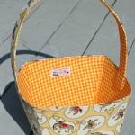 sewn fabric basket