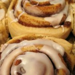 cinnamon bun with glaze