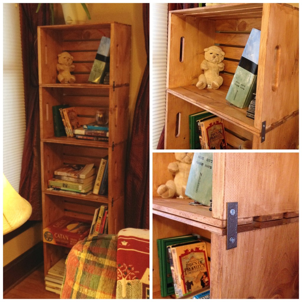 Finished Crate Bookshelf Project