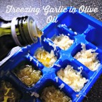 How to store your garlic by freezing it in olive oil