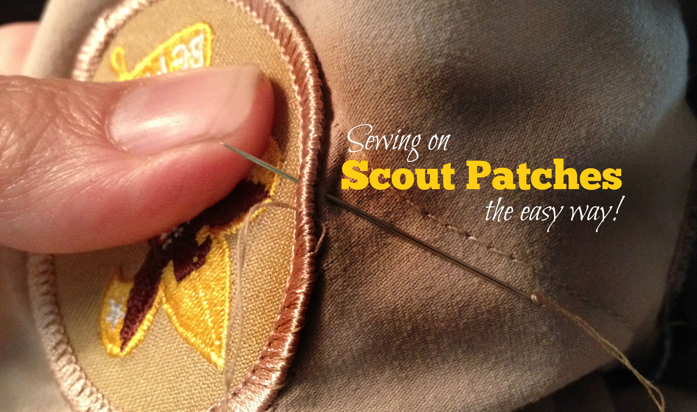 Sewing On Scout Patches The Easy Way