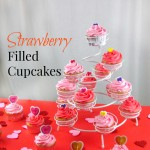 Strawberry Filled Cupcakes — A Valentines Day Treat!